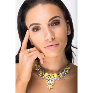 Solar - Necklace With Yellow and Diamante Gems - Jewels of Jupiter