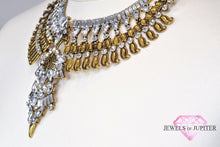 Pollux - Handmade Gold And Silver Necklace With Diamante Gems - Jewels of Jupiter