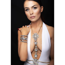 Fornex - Metal Body Chain Belt Encrusted With Clear Gems - Jewels of Jupiter