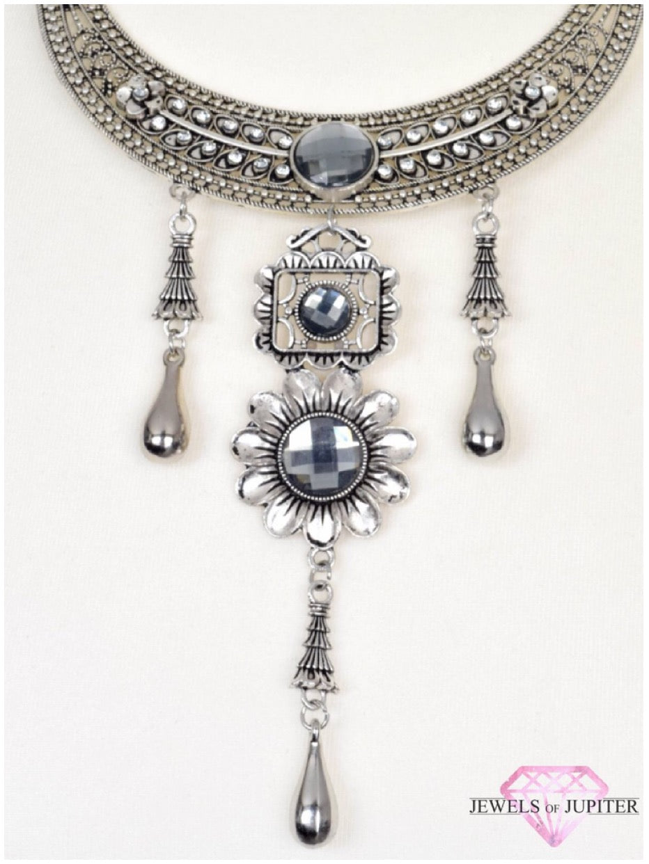 Orion's Belt - Silver Triple-Pendant Choker Necklace - Jewels of Jupiter