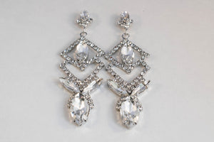Algol Earrings - Pendant Earrings - Diamante Earrings - Jewels of Jupiter