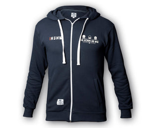 Rugby hoodie with zipper
