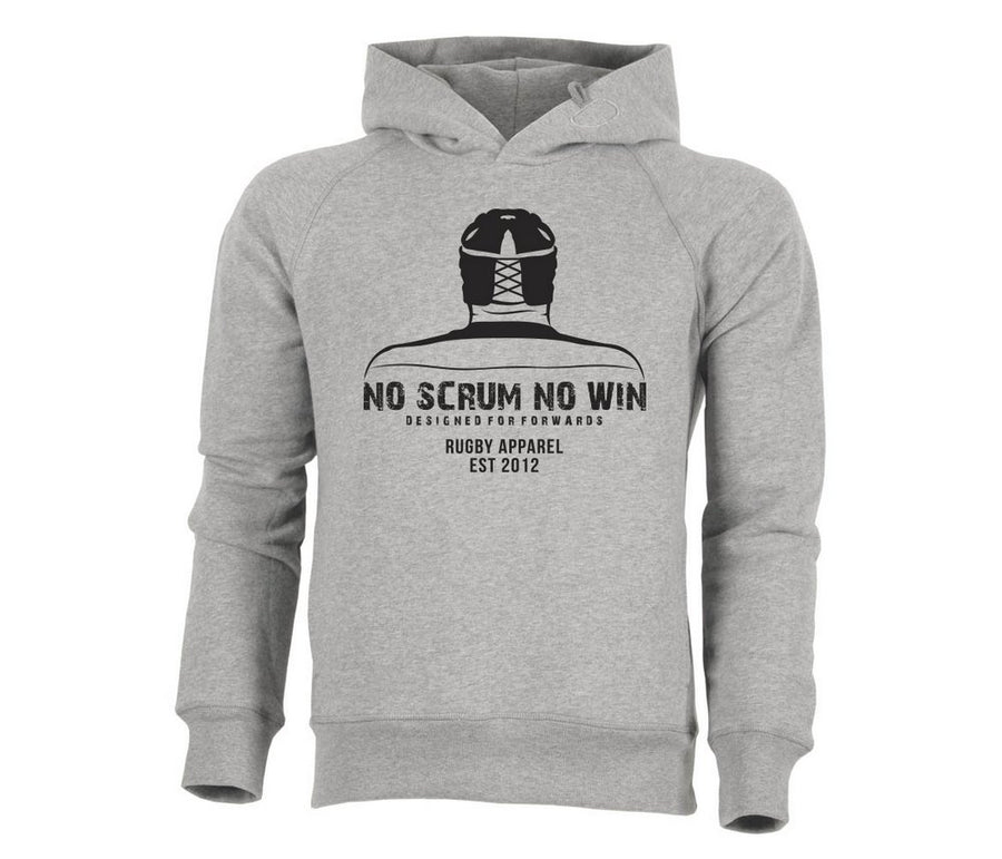 Rugby hoodie in Heather Grey colour