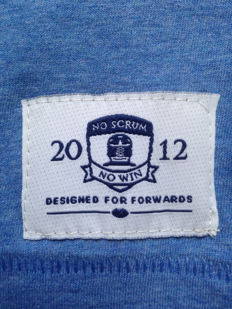 No Scrum No Win cotton stitched label
