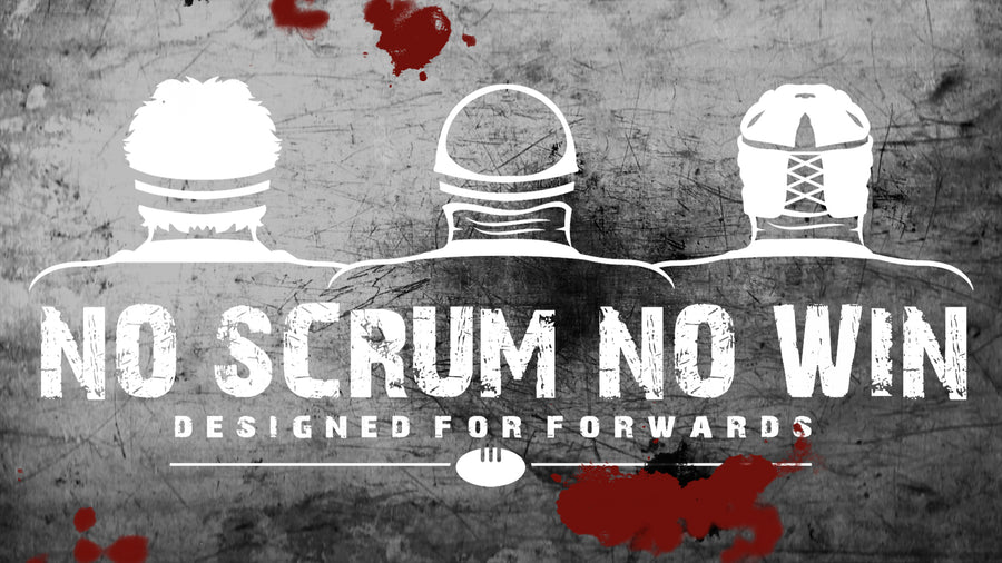 no scrum no win 3 heads sticker