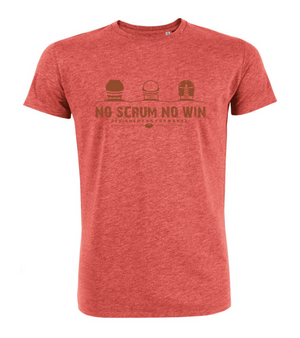 no scrum no win t shirt red