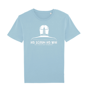 no scrum no win blue t shirt