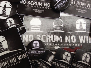 no scrum no win stickers
