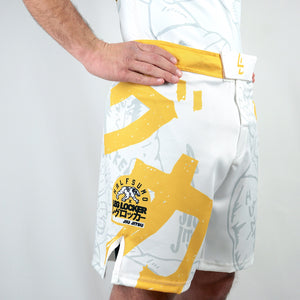 White- LegLock Hunter Combat Shorts