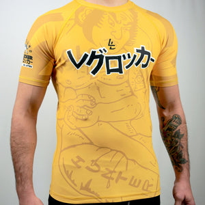 Yellow- LegLock Hunter Rashgaurd