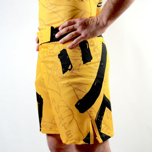 Yellow- LegLock Hunter Combat Shorts