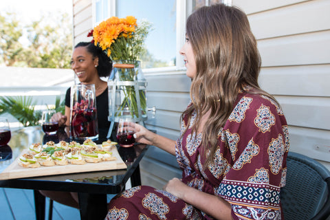 Fall bruschetta and Debut Dabu kaftan