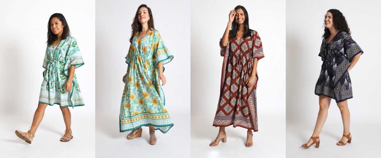 Kaftan Life Launch Product Shoot Collage