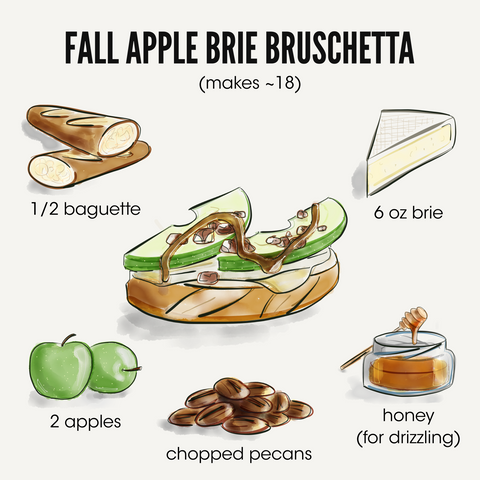 Kaftan Life Blog - Fall Apple Brie Bruschetta Recipe