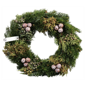 Couronne sapin naturel (diam 25 cm)