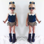 2018 New Fashion Baby Clothing Set Baby Girl Sets Tshirt+Short Pants Newborn
