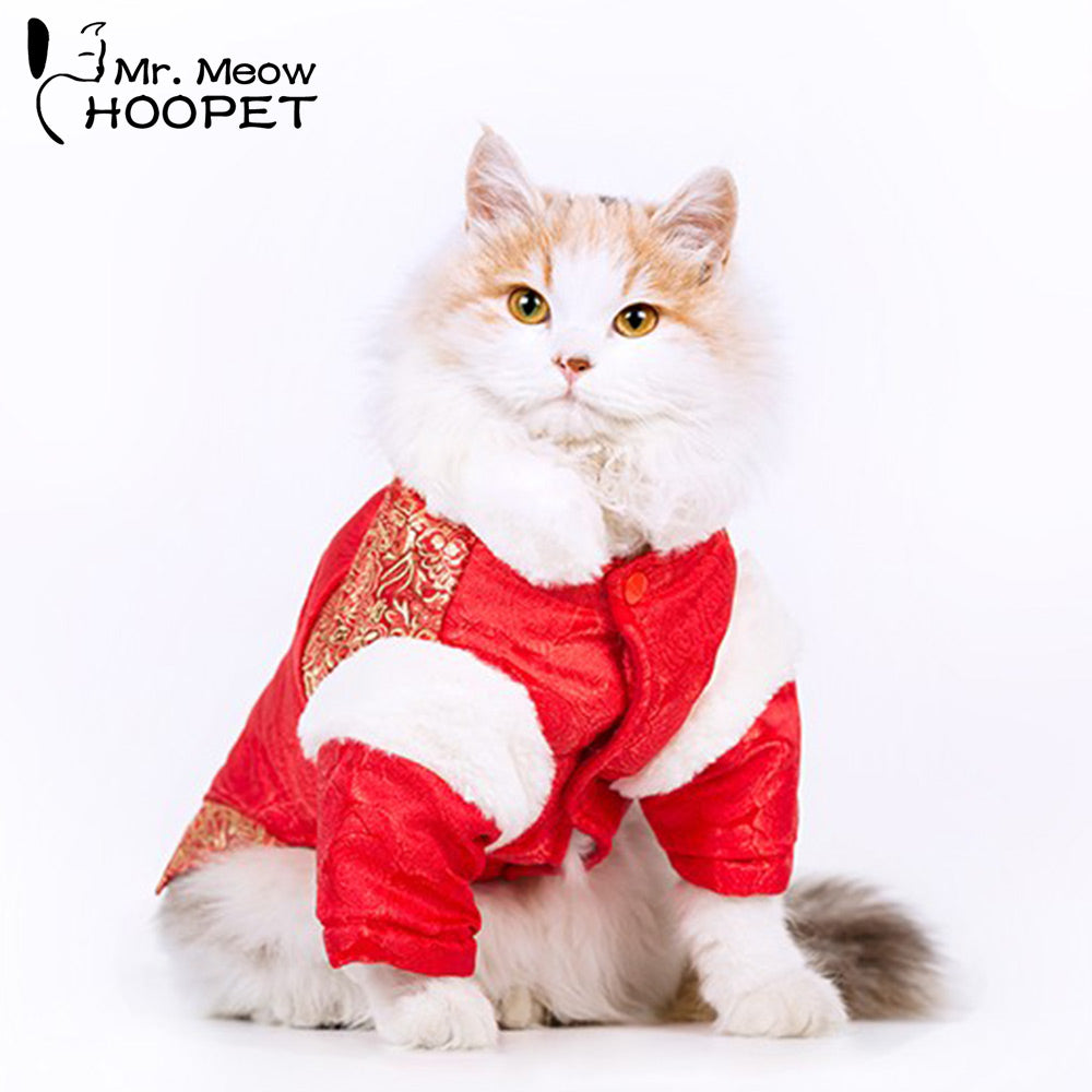 Hoopet Red Pet Clothing Chinese Costume