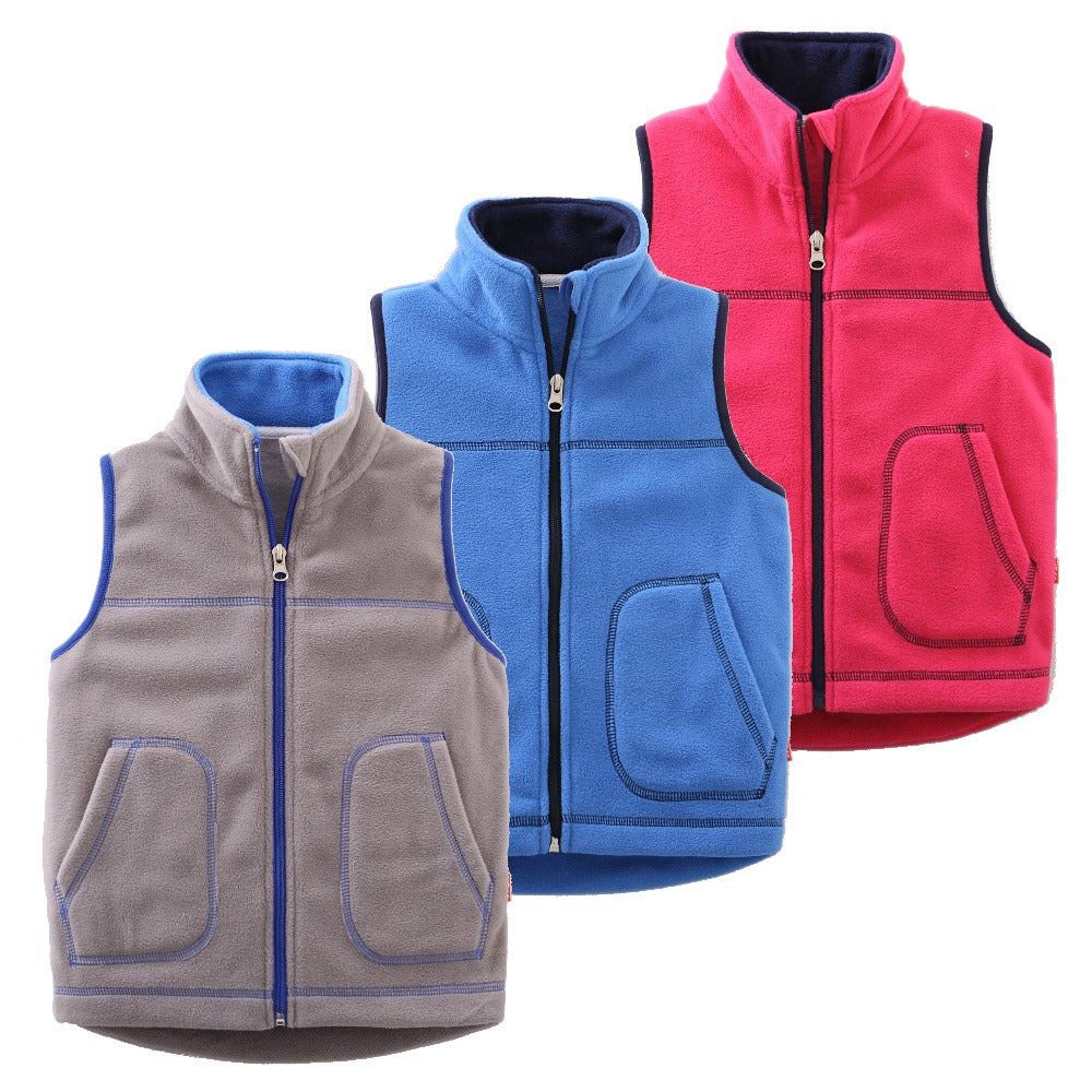 Candy-Colors Kids Vest Waistcoats r Boys Girls Vests