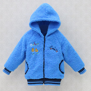 2017 new style winter baby long sleeve coral fleece hoodie jackest girls warm coats boys kids