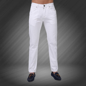 2018 New Men Jeans Candy Colors Solid Slim Fit Zipper
