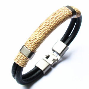 2018 Genuine Leather Bracelet Men's