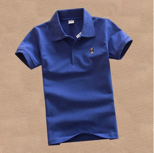 2017 new fashion boys t shirts for kids summer solid color cotton short sleeve boys girls polo shirt DQ299