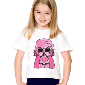 Print Modal  Pink Darth Vader T shirt For /girls Star War