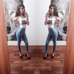 2017 New Fashion Jeans Women Pencil Pants High Waist Jeans Sexy