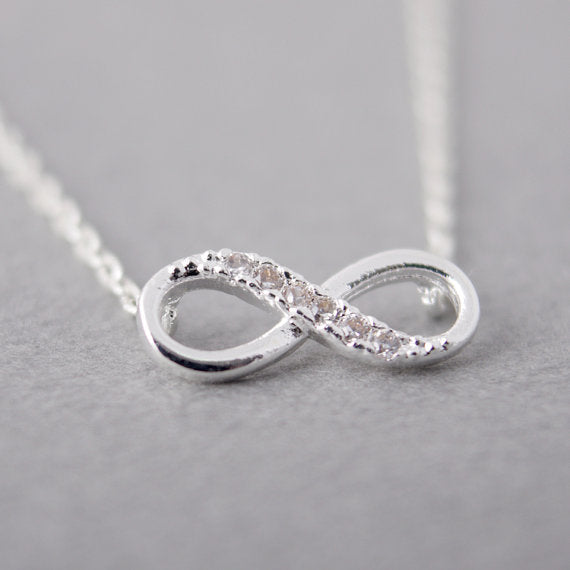 Tiny Infinity Crystal  Women Necklace