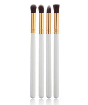1Set/4pcs White Makeup Brushes