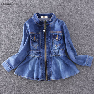 2018 Fashion Baby Girls Jeans Jacket Children Solid Autumn High Quality Coats