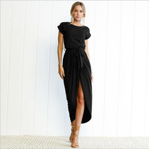 2018 Fashion Women High Split Maxi Wrap Dress