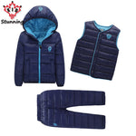 2-7 Years Boys Girls Coats Brand 2018 Sets 3Pcs