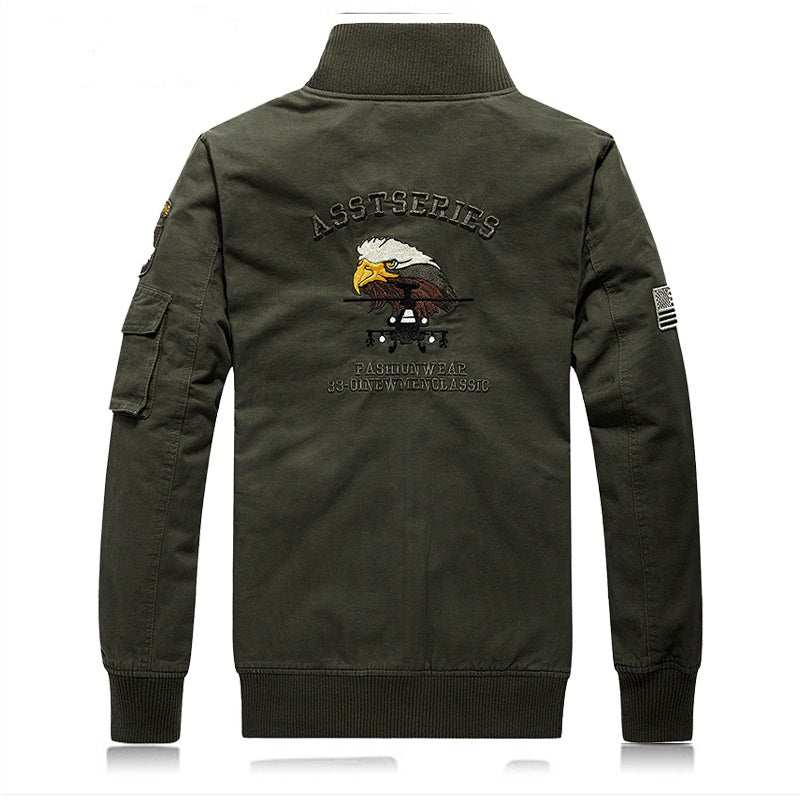 2018 Bomber Jacket Windbreaker Men Jacket Solid Chaqueta