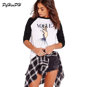 2018 Brand Women T Shirt Tattoo Vogue Princess Print Tshirt