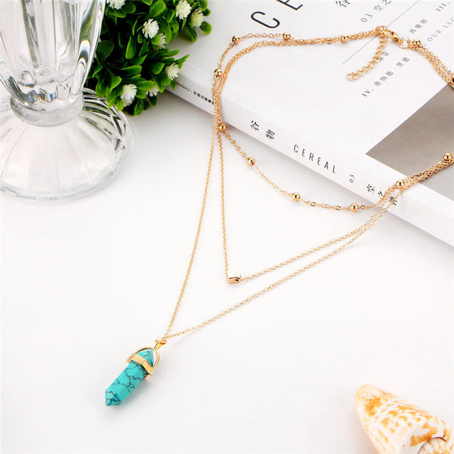2018 Fashion Natural Stone Choker Necklace