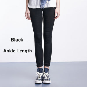 2017 Autumn Plus Size Casual Women Jeans Pant Slim Stretch Cotton Denim