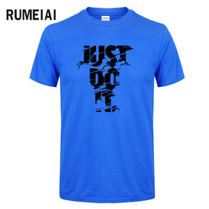 2018 New Fashion Just Do It T shirt Brand Clothing  High Quality