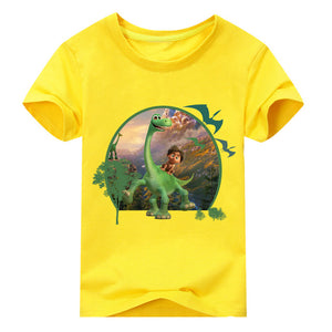 2018 Boy The Good Dinosaur T Shirt Children Summer Cartoon