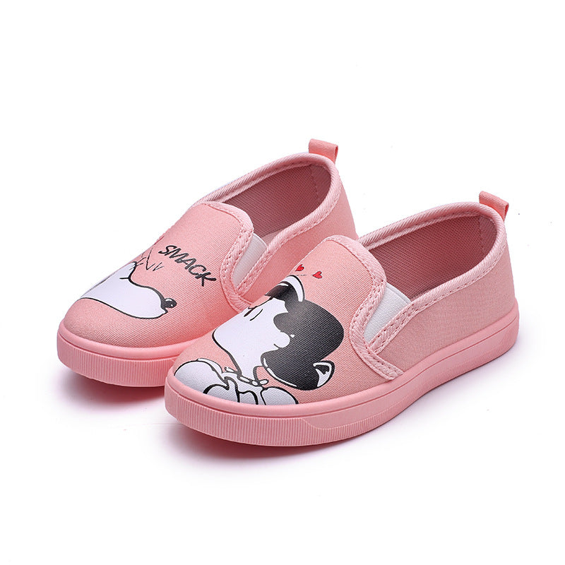 Cute Children Shoes Girls Canvas Shoes Fashion Painting Cartoon  Toddler Girls Boys Shoes 3 colors