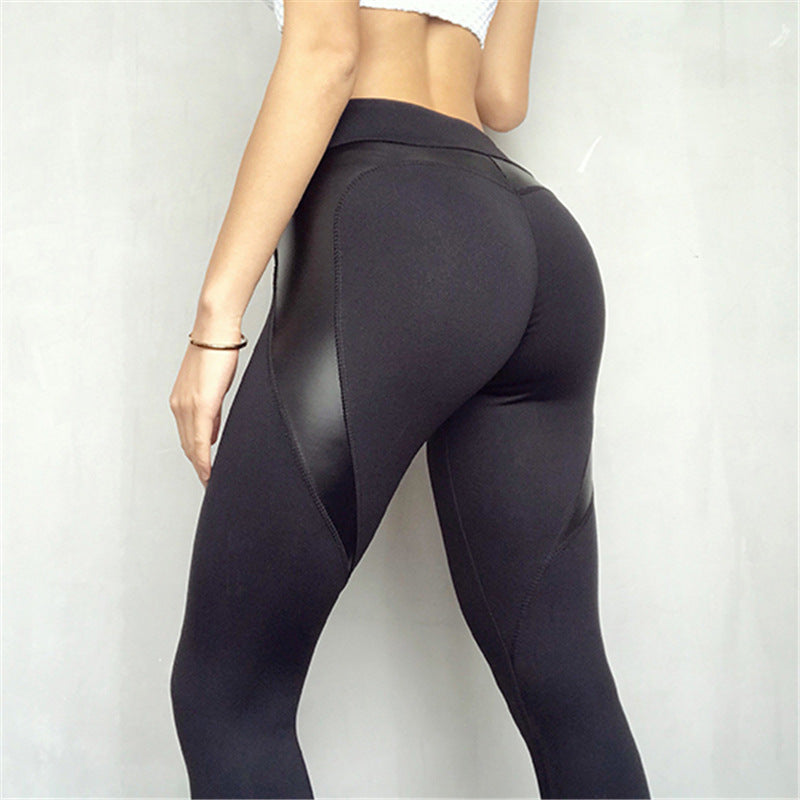 2018 New Fashion Push Up Fitness Legging Peach heart Strip