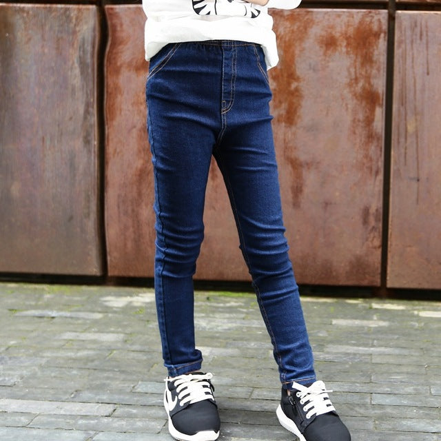2018 New Style Spring Autumn Girls Jeans Kids Clothing Children