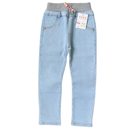 2018 New Style Girls Jeans Kids Clothing Pants For Girls Spring