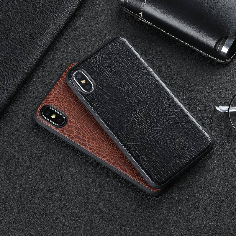 Vintage luxury crocodile  case coque cover For Apple iPhone X 6 6s plus 7 8 plus