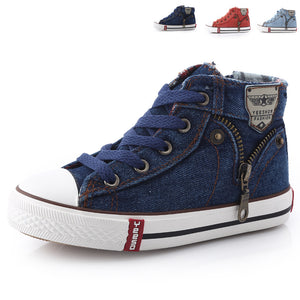 2018 New Arrival Children Casual Shoes Kids Canvas Sneakers Boys Jeans