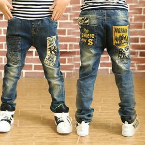 2018 Boys Pants Jeans Fashion Boys Jeans For Spring Fall Childrens Denim Trousers Kid