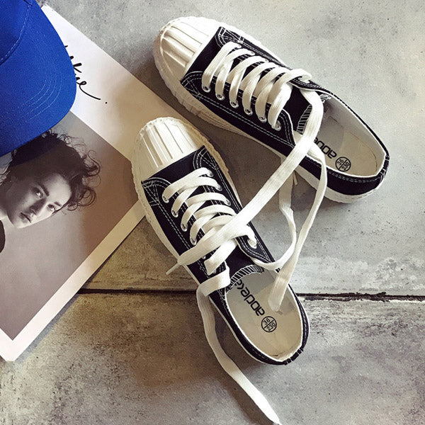2018 New Women Shoes Canvas Shoes Female Spring And Summer White