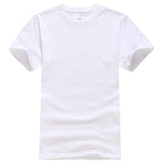 2017 New Solid color T Shirt Mens Black And White 100% cotton T-shirts Summer Skateboard