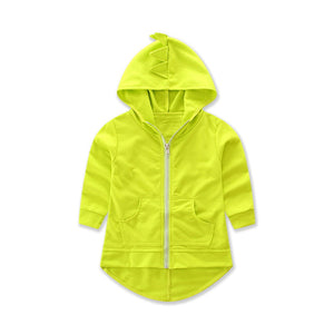 2017 New Arrival Dinosaur Baby Girls Boys Hooded Jacket Cartoon Long Sleeve Outerwear Kids Casual Children Autumn Clothes