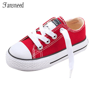 2017 New Classic Children Shoes Girls Boys Canvas  Kids Sneakers Tendon